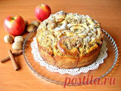 Бесподобный пирог из «розочек» с вкуснейшей начинкой — Кулинарная книга - рецепты с фото