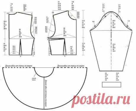 Платье с юбкой солнце со смещенным центром (Шитье и крой) — Журнал Вдохновение Рукодельницы