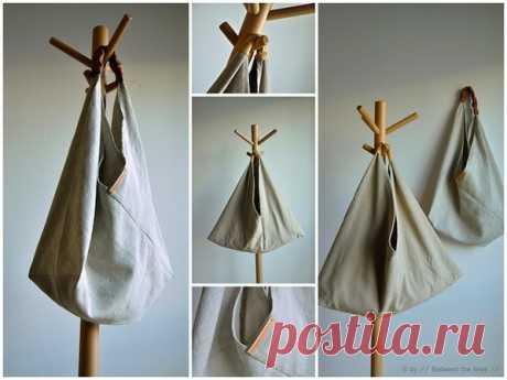 Простая выкройка интересной сумки Модная одежда и дизайн интерьера своими руками