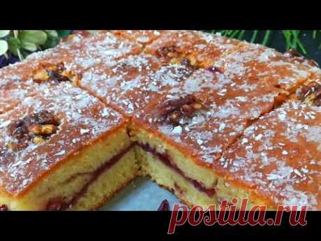 1 ст Сметана+ Сахар и Яйца!!! Быстрый Пирог  на СТОЛЕ/Пирог #кухня_узбечки
