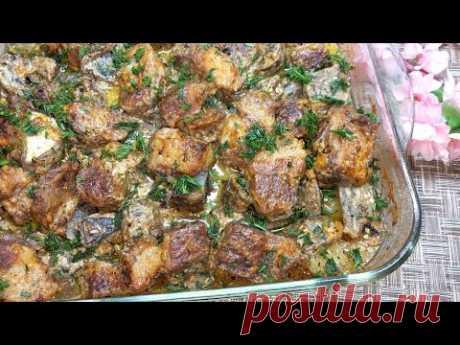 Вкусный УЖИН из Мяса, Картошки и Грибов в духовке. Такое блюдо хоть на праздничный стол подавайте.