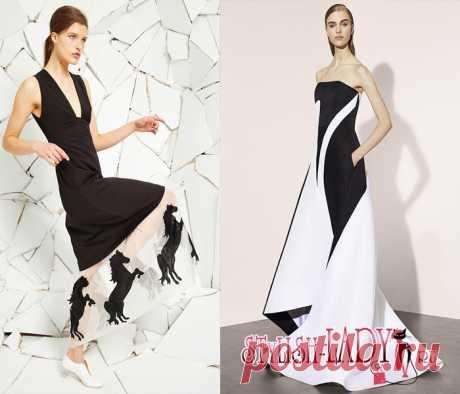 Модные тенденции весна - лето 2016, полный фото - обзор черное и белое