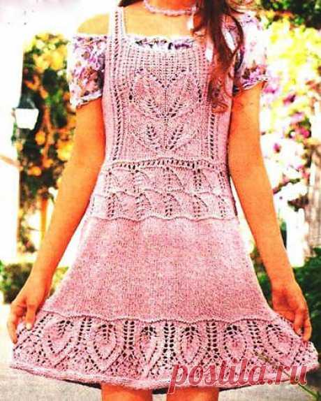 Вязание спицами платья сарафана - Схемы вязания - Крючок и спицы