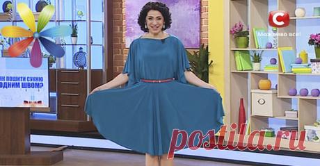 ЭТО праздничное платье сшито за 20 минут. Без выкроек! | I Love Hobby - Лучшие мастер-классы со всего мира!