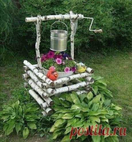 Дачный участок. Садовый декор из подручных материалов. | Дом & уют | Яндекс Дзен