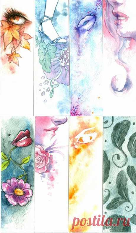 Watercolor Bookmarks. Bookmarks
