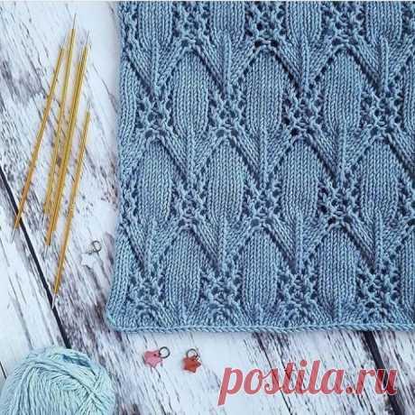 Вязание-спицы>Нежный объемный узор спицами