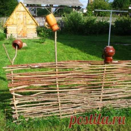 Делаем плетень на даче!(подробная инструкция) - МирТесен