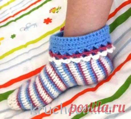 Вязаные носочки от Drops   Вязание крючком, схемы вязания, бесплатное вязание крючком