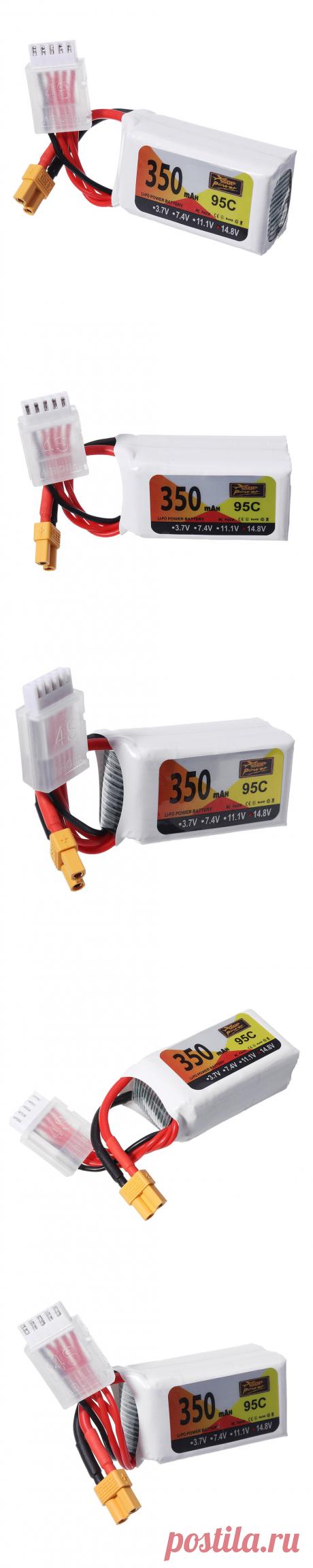 zop power 14.8v 350mah 95c 4s lipo battery xt30 plug for rc drone Sale - Banggood.com