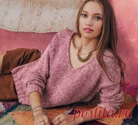 Простой нежный пуловер от PHILDAR