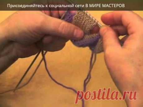 Вязание спицами. Энтрелак часть 2