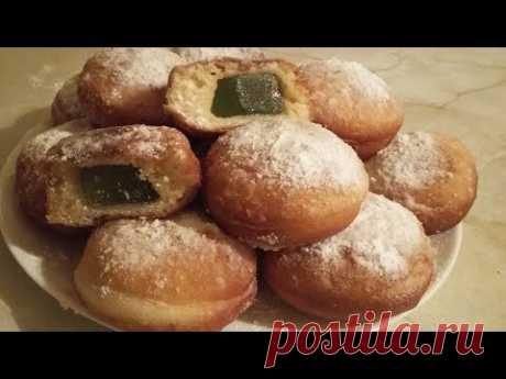 Пончики Берлинеры. Цыганка готовит. Пончики с мармеладом. Gipsy cuisine.