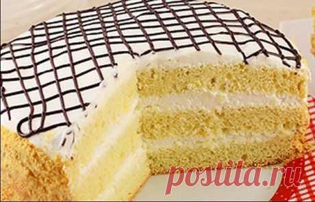 Бисквит со сметанным кремом - Кулинария