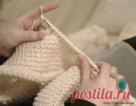 Как делать крючком прибавки и убавки в тунисском вязании