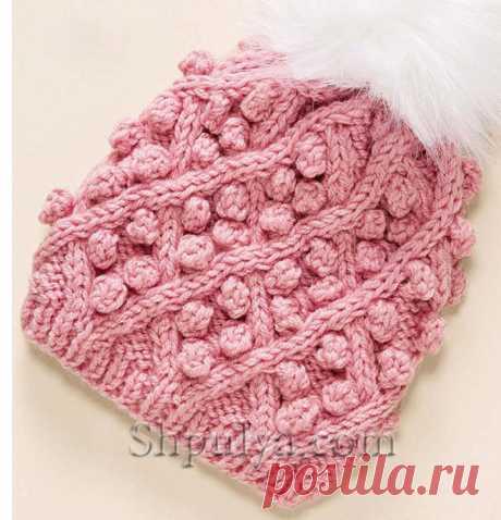 Теплая шапка с шишечками - SHPULYA.com