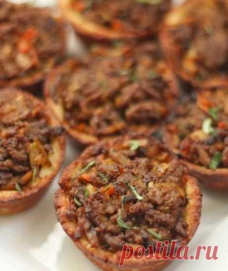Рецепт кето пирога из говяжьего фарша (с подсчётом КБЖУ)
