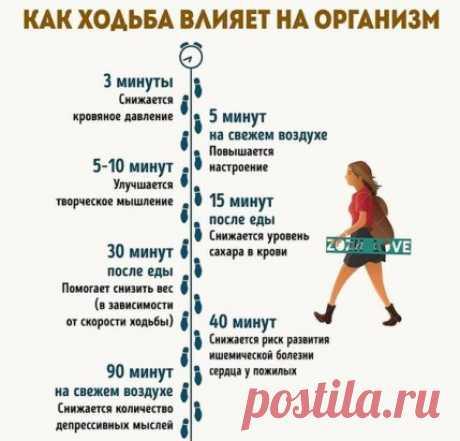 Кто замечает как ходьба влияет на организм?