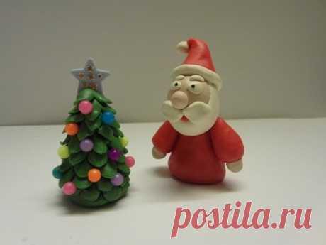 Как слепить Деда Мороза ❄ из пластилина (Modelling Clay Santa)
