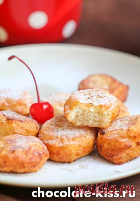 Творожные пончики за 10 минут.
