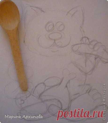 (+1) тема - Кот-обжорик из соленого теста. Автор Марина Архипова | СВОИМИ РУКАМИ