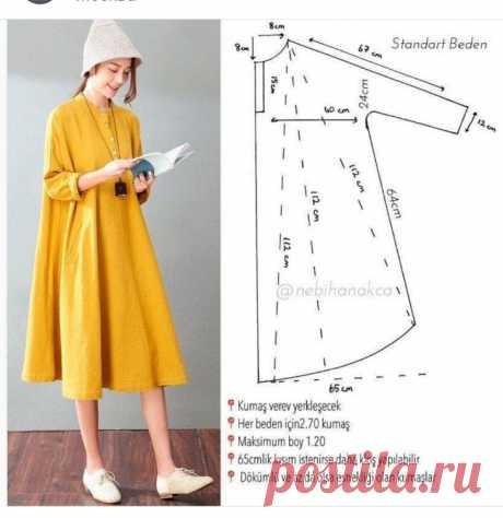 Выкройка широкого А платья Модная одежда и дизайн интерьера своими руками