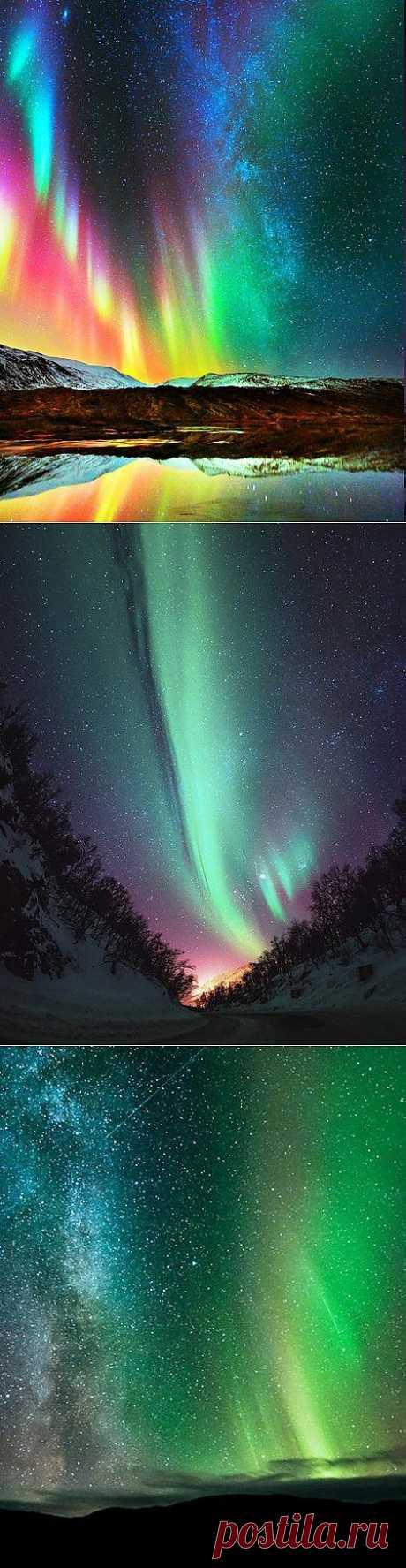 Divine sign: polar lights