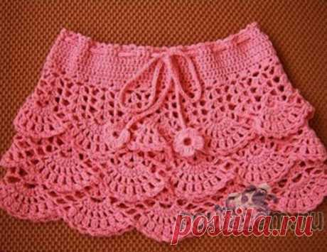 "Skirt a hook for the girl \""Openwork frills\"""