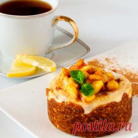 Осенний чизкейк из ряженки с корично-яблочным топпингом. Рецепт c фото, мы подскажем, как приготовить!
