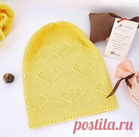 Вяжем шапочку с сердечным узором из категории Интересные идеи – Вязаные идеи, идеи для вязания