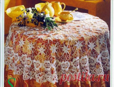 Девять скатертей с описанием и схемами вязания.   pro100stil   Яндекс Дзен