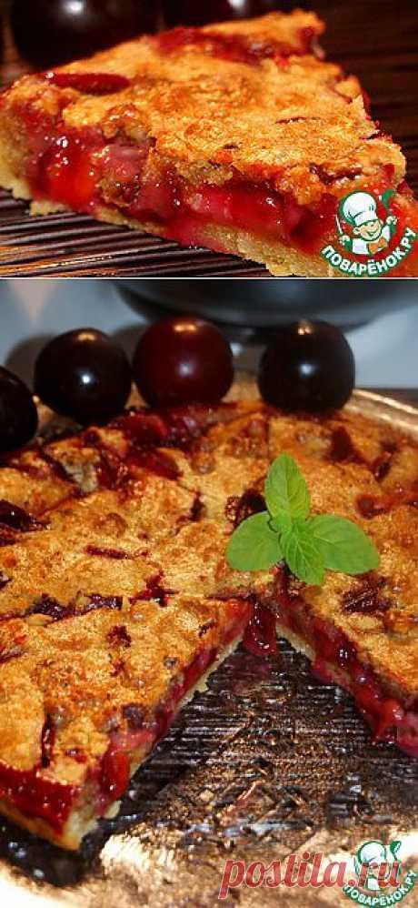 """Сливовый пирог """"Обманчивая внешность"""" - кулинарный рецепт"""