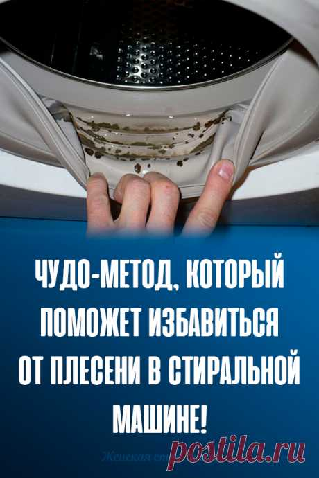 ¡El método prodigioso, que ayudará librarse del moho en la lavadora!