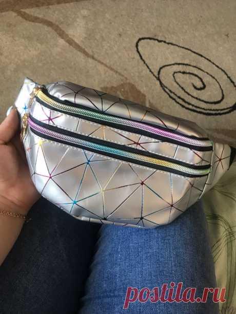 Красивые сумочки на пояс, перламутровые, лакированные, матовые, голографические