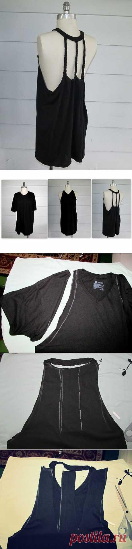 5 часть. Интересно переделываем футболки..