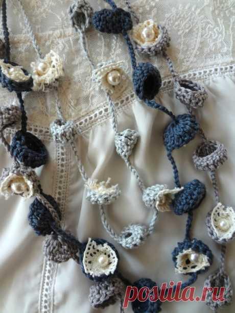 Bohemian Bells Necklaces PDF Pattern-crochet necklace от sewella