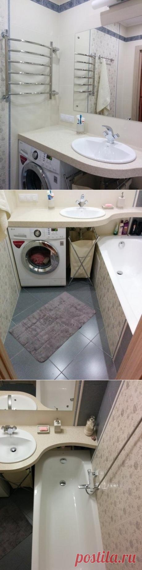 Компактная ванная комната - Дизайн интерьеров   Идеи вашего дома   Lodgers
