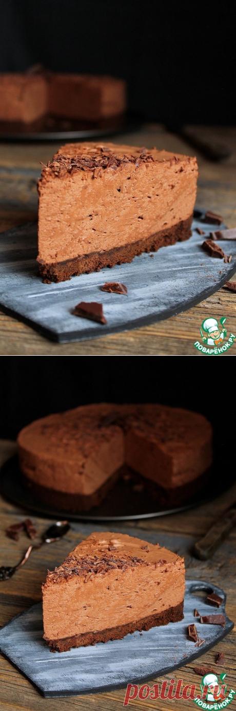 La torta-espumilla de chocolate sin cocción - la receta de cocina