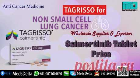 Know detailed information about the Osimertinib Price online from MedsDelta Trusted Exporter and Supplier. Call/WhatsApp: +91–9971646666 for buy Tagrisso Tablet manufactured by AstraZeneca which contains Osimertinib in it. MedsDelta is one of the leading Tagrisso Supplier online aims at offering you Osimertinib tablet at wholesale price. Order now Osimertinib Tablet AZD9291 from MedsDelta and get delivered to countries including Austria, Bahrain, Bangladesh, Belgium, Bhutan, Canada, Denmark,