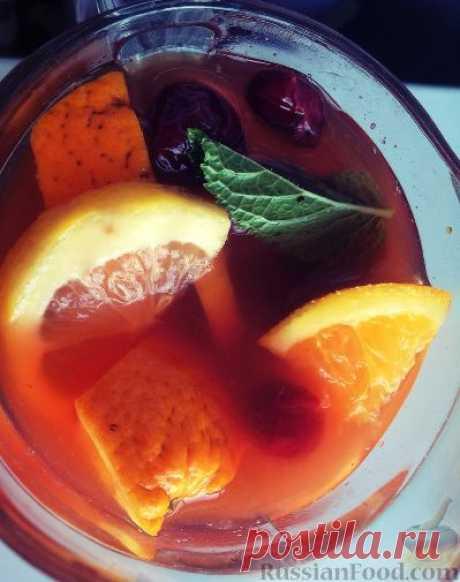 Рецепт: Холодный мятный чай с цитрусами на RussianFood.com