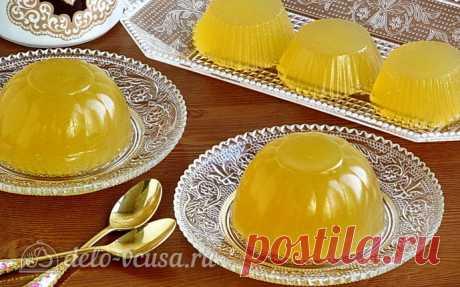 Лимонно-имбирное желе, пошаговый рецепт с фото