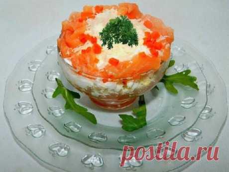 Рыбный салат слоеный семга под шубой