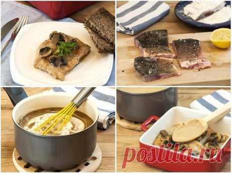 Карп, запеченный с грибами   Отличный рецепт приготовления филе речной рыбы, запеченное с грибами в сливочным соусе.