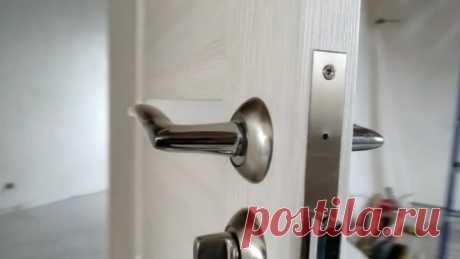 Как аккуратно врезать дверной замок