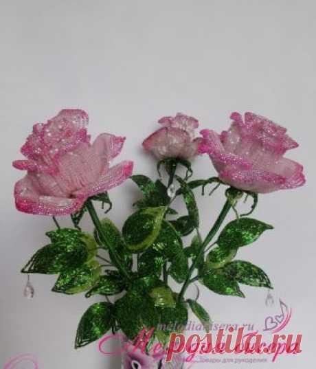 Роза из бисера. Мастер-класс