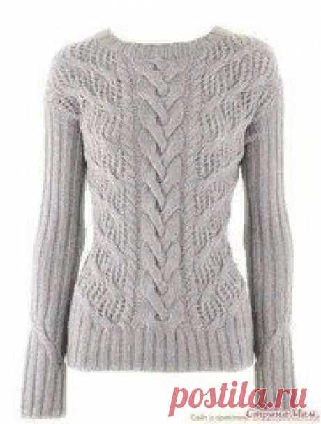 Лаконичный пуловер от IRIS VON ARNIM, вяжем спицами Вашему вниманию предлагаем интересный пуловер, связанный спицами. Обилие узоров обеспечивает вещи статут незаурядной. К такому пуловеру даже украшения не нужны! Косы сами по себе прекрасны!