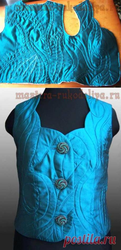 Мастер-класс по шитью: Утепленный жилет