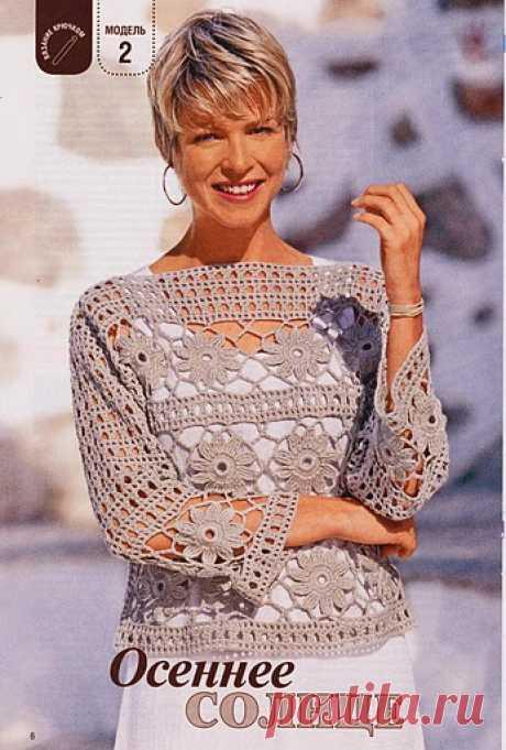 Crochetemoda Blog: Blusa Bege de Crochet