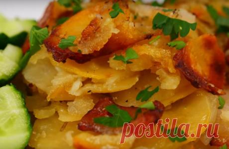 Аппетитное блюдо из сала и картофеля - Четыре вкуса - медиаплатформа МирТесен