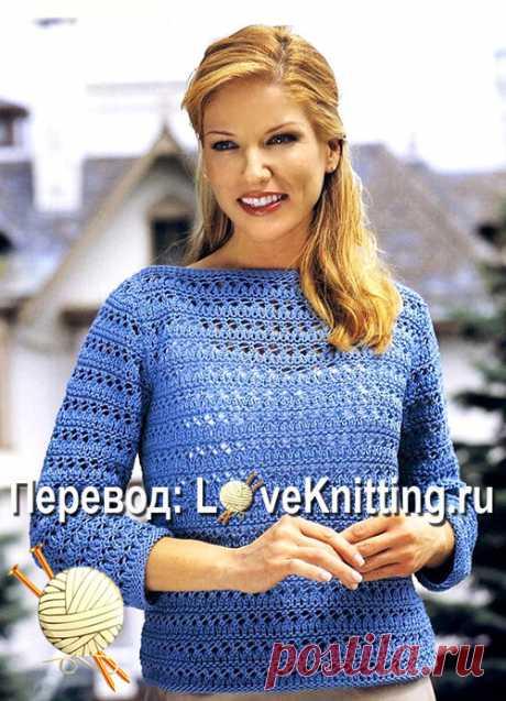 Пуловер ажурным узором | ВЯЗАНИЕ - LoveKnitting.ru | Яндекс Дзен